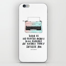WRITE iPhone Skin