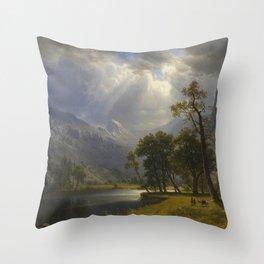 Mount Starr King, Yosemite by Albert Bierstadt Throw Pillow