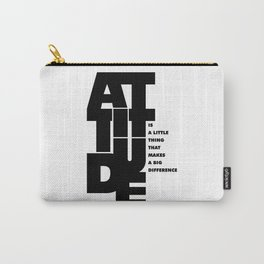 Lab No. 4 - Life Inspirational Quotes Of Attitude Inspirational Quotes Poster Carry-All Pouch