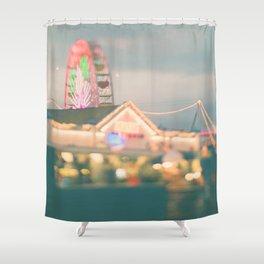 ferris wheel. Let's Be Kids Again Shower Curtain