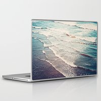 waves Laptop & iPad Skins featuring Ocean Waves Retro by Kurt Rahn