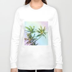 Relaxing Rainbow Color Palms Long Sleeve T-shirt