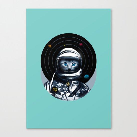 Space Kitten (white ver.) Canvas Print