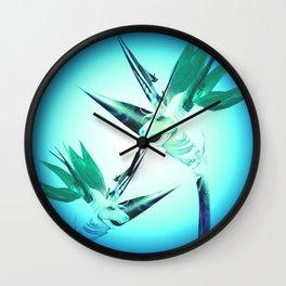 Unicorn Bird of Paradise 1980's Retro Floral Wall Clock