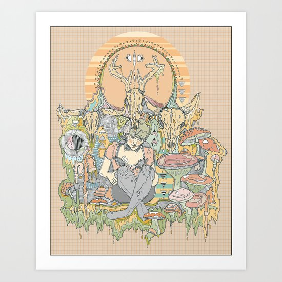 gilded cage Art Print