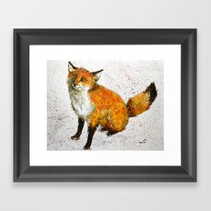 Cute fox Framed Art Print