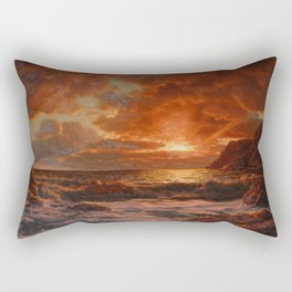 Sunrise over the Sea by Ivan Fedorovich Choultsé Rectangular Pillow