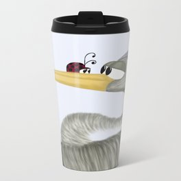 Herb The Heron And His Visitor  Travel Mug