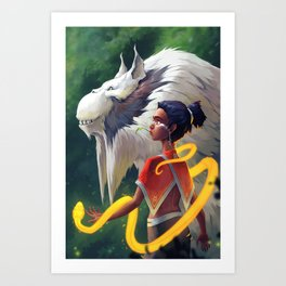 Nuru and Aki Art Print
