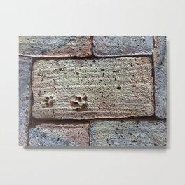 Tile - Pawprint Paver Metal Print