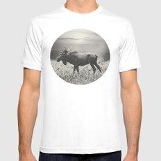 Moose Walk  White MEDIUM Mens Fitted Tee