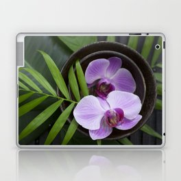 Zen Style Pink Orchids And Palm Leaf Laptop & iPad Skin