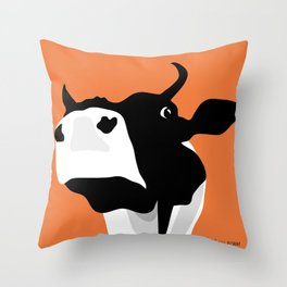Blomma orange Throw Pillow