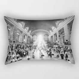 Grand Central Daylight (classic black & white edition) Rectangular Pillow