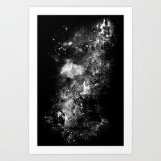 I'll wait for you black white version Art Print