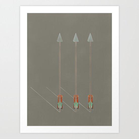 3 Arrows Art Print