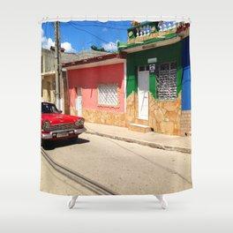 Cars in Cuba Shower Curtain