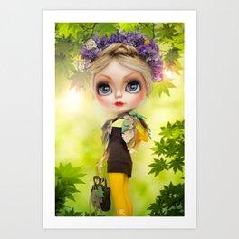 Erregiro Blythe Custom Doll SPRING TIME Art Print