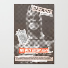 Dark Knight Tabloid Canvas Print