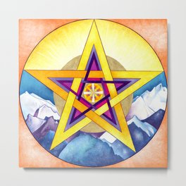 love, wisdom, truth, justice & goodness Metal Print