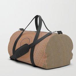 Coral Peach and Taupe Mandala Duffle Bag