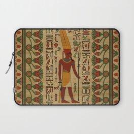 Egyptian Amun Ra - Amun Re Ornament on papyrus Laptop Sleeve