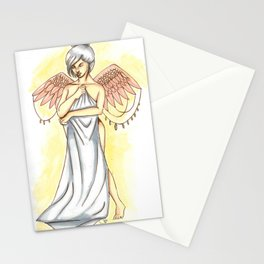Young angel Stationery Cards