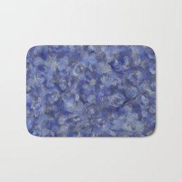 Slate Blue and Steel Silver Gray Unique Bubble Texture Bath Mat