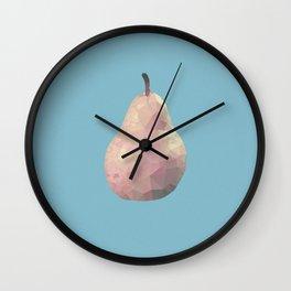 Geometric Pear Wall Clock