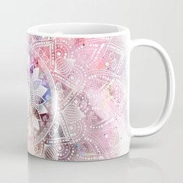 Whimsical white watercolor mandala design Kaffeebecher