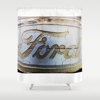 ford Shower Curtains featuring Ford by Sarah Welch