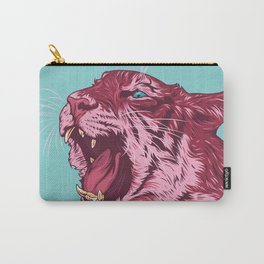 Magenta tiger Carry-All Pouch