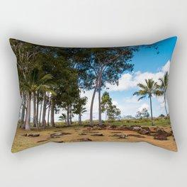 Ancient Kukaniloko Birthstones Hawaii Rectangular Pillow