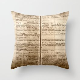 Post Office Postmaster Appointments Antique Paper Throw Pillow
