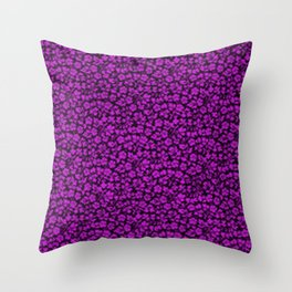 Dazzling Violet Vintage Flowers Throw Pillow