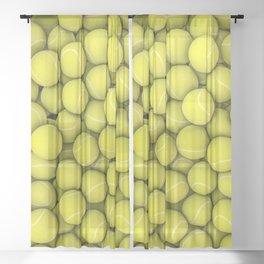 Tennis balls Sheer Curtain