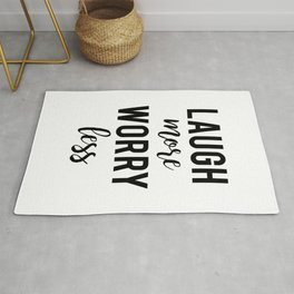 Laugh More Worry Less Rug