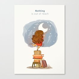 Nothing is out of reach Canvas Print