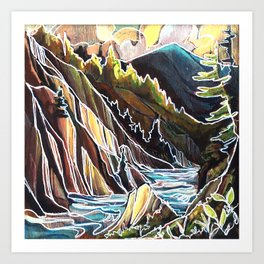 Creek Canyons, British Columbia Art Print