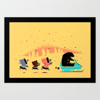 grand theft auto Art Prints featuring Grand Theft Arctic by maudie&ma