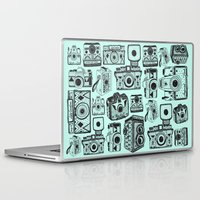 cameras Laptop & iPad Skins featuring Vintage Cameras  by Indi Maverick