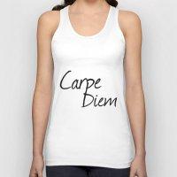 carpe diem Tank Tops featuring Carpe Diem  by Xchange Art Studio