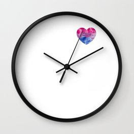 Gay Pride LGBT Bisexual Bi Painted Heart  design Wall Clock