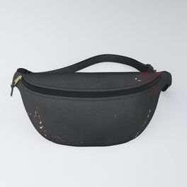 Vulcanic Fire Marble Fanny Pack