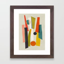 Sticks and Stones Framed Art Print