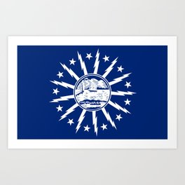 Buffalo city flag united states of america New York Art Print