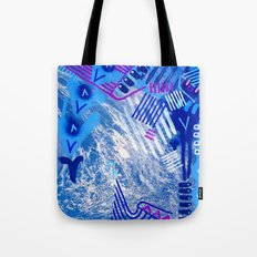 Wave Blue II Tote Bag