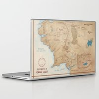 middle earth Laptop & iPad Skins featuring Map of Middle Earth by Kaz Palladino