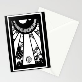 EL MAR LAS NUVES Y UN OJO Stationery Cards
