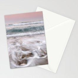 Mediterranean sea waves. At sunset. Marbella. Spain Stationery Cards